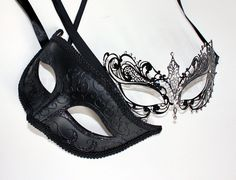 Laser cut Venetian Pheonix Mask Masquerade wedding female(Black)+male(Black) in Clothing, Shoes & Accessories | eBay