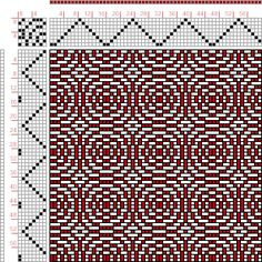 Weaving Draft Page 216, Figure 21, Donat, Franz Large Book of Textile Patterns, Germany, 1895, #30230
