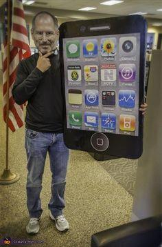 Steve Jobs and iPhone/iPad - Halloween Costume Contest via @costume_works