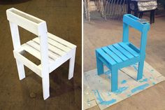 Create an Entire Dining Set from Recycled Pallets via Brit + Co.