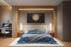 Cool Fancy Bedroom Design Ideas To Get Quality Sleep. Bedroom Lamps Design, Modern Bedroom Design, Bed Design, Bedroom Wall, House Design, Bedroom Decor, Bedroom Ideas, Bedroom Chandeliers, High Ceiling Bedroom