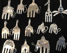 Your choice of Super Cute Vintage silver plated Dog pendants made from rescued forks!! We have made 21 different breeds so far. At this time we are unable to make really fluffy dogs like chows. but we can make most breads with a defined profile. Message us with a picture and we will be able to let you know if we can make your personal best friend. ► If the dogs that you like is no longer available you wil recive one very similar. ► It comes on your choice of an 18,20,22,24,26 silver chain…