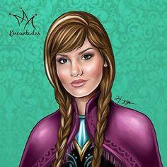 CAMILA QUEIROZ COMO ANA By Higgo Cabral #illustrations #ilustrações #ilustração #princesas #princess #disney http://www.julianefreire.com.br/2015/10/ilustrador-higgo-cabral-transforma.html