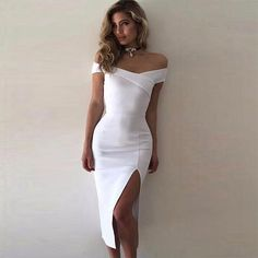 New Spring Bandage Dress Women Celebrity Party Short Sleeve Off The Shoulder Split Sexy Milan Club Dress Women Vestidos