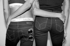 . @cocoandbreezy show their Calvin Klein Jeans. #mycalvins  Link in profile to shop [US]. - Shop now for calvinklein > http://ift.tt/1Ja6lvu
