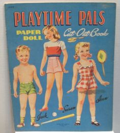 Vintage Playtime Pals paper doll Cut-Out book Lowe 1045 1946 uncut by julesartstuff on Etsy