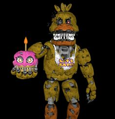 Nightmare chica sfm Fnaf Characters, Five Nights At Freddy's, Just For Fun, Fan Art, Christmas Ornaments, Lovers, Random, Friends, Make Up