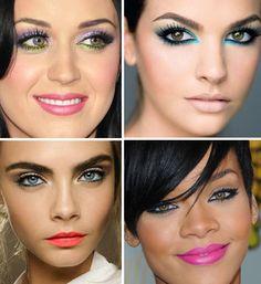 Maquiagens coloridas ficam lindíssimas quando bem feitas e sem exageros. Também são ótimas inspirações para o verão.  #colorful #beautiful #makeup