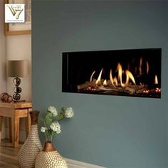 Verine Eden High Efficiency Hole In The Wall Gas Fire - Direct Fireplaces Wall Mounted Fireplace, Wall Mount Electric Fireplace, Fireplace Inserts, Gas Fireplace, Fireplace Ideas, Wall Fireplaces, Wall Mounted Electric Fires, Modern Electric Fireplace, Electric Fireplaces