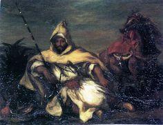 Un soldat arabe et son cheval (1845) Eugène Delacroix - Musée des Beaux-Arts de Bordeaux (France) - [img605soldat2.jpg]