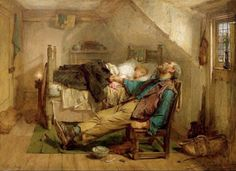 Victorian British Painting: Thomas Faed Worn Out (1868)