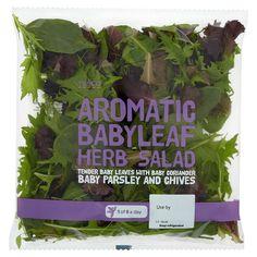 Tesco Aromatic Babyleaf Herb Salad 105G - Groceries - Tesco Groceries