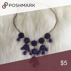 Bubble necklace Purple bubble necklace, NWT. Makes a great statement! Jewelry Necklaces