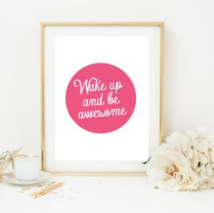 Wake Up Poster Wall Decor Minimal Art Nature by LovelyPosters