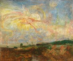 James Ensor - Adam and Eve expelled from paradise