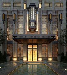 Parc Hotel, Art Nouveau, Facade Lighting, Exterior Lighting, Modernisme, Art Deco Buildings, Facade Architecture, Art Deco Design, Bauhaus