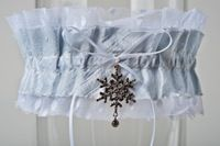 The December Wedding Garter -could always find own charm to sew in to a plain garter
