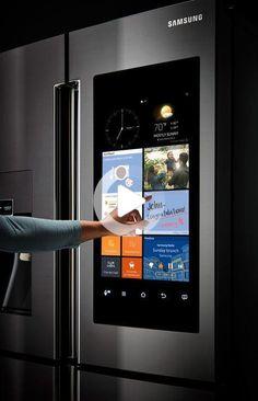 Ideen für die Hausautomation - Denken Sie jemals darüber nach, Fragen zu stellen, bevor Sie… Stainless Steel Counters, Black Stainless Steel, Black Kitchen Cabinets, Black Kitchens, Smart Kitchen, Best Home Automation, Mostly Sunny, Samsung, Home Gadgets