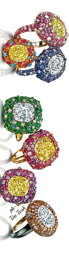 "Sotheby Diamonds, Ricci ""sea urchin"" in Italian Cocktail Ring"