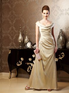 Mirella's Ladies Boutique ~ k158009 off shoulder satin face chiffon gown