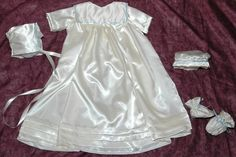 Colonial Heirloom Satin Christening Gown