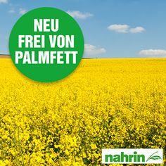 Nachhaltige Produkt-Entwicklung bei Nahrin: Palmfett wird ab sofort (Juni 2016) durch Schweizer Rapsöl ersetzt. Der Umwelt zu Liebe, denn Nachhaltigkeit liegt uns am Herzen und ist Teil unseres Qualitätsbewusstseins.