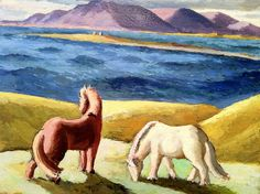 Horse art 13    The Kjarval Museum in Reykjavik had a exhibit devoted to horses, from beast of considerable burden to idealized objects of wild beauty.