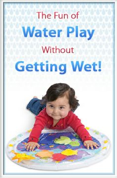 #Babies will love pushing, patting and grabbing for tactile and visual fun all without getting wet. Great for tummy time activities.