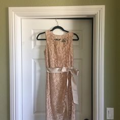 Beautiful Adrianna Papell Lace dress ✨Gorgeous lace detail, tan color. Worn once to my daughter's Wedding. I received so many compliments.✨ Adrianna Papell Dresses Wedding