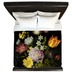 Flower Bouquet King Duvet