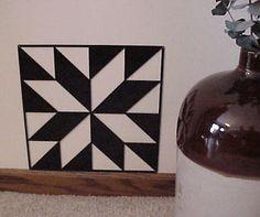 "Free Barn Quilt Patterns | Barn Quilt Black Metal 24"" x 24"" Quilt Block Sign Lemoyne Star Pattern"