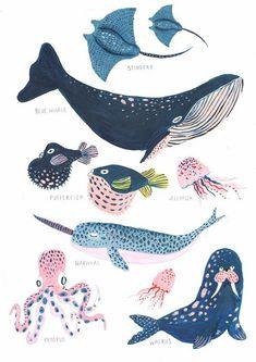 Under the Sea / Nursery Wall Art / Whale / Nautical / Whale Print / Bathroom Wall Decor / .- Unter dem Meer / Kinderzimmer Wandkunst / Wal / Nautik / Wal Print / Badezimmer Wand Dekor / … Under the Sea / Nursery Wall Art / Whale / Nautical / … - Sea Nursery, Nursery Wall Art, Nursery Decor, Nautical Nursery, Nautical Art, Nautical Prints, Art And Illustration, Illustrations Vintage, Sea Life Art