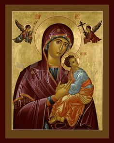 Our Lady of Perpetual Help Religious Images, Religious Icons, Religious Art, Greek Icons, Catholic Pictures, Social Themes, Images Of Mary, Queen Of Heaven, Madonna And Child