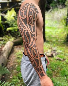 ull sleeve finished for @nthvn #tamoko Taking bookings for December, message for detail Body Art Tattoos, Tribal Tattoos, Sleeve Tattoos, Vegas Tattoo, Maori Tattoo Designs, Deer Tattoo, Maori Art, Chur, Polynesian Tattoos