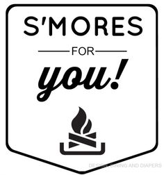 S'MORE MAKING KIT LABEL. Free printable!!