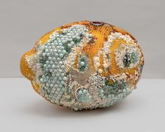 Moldy Fruit Sculptures Formed From Precious Gemstones Challenge Perceptions of Decoration and Decay L'art Du Fruit, Fruit Art, Fruit Cakes, Watermelon Fruit, Emerald City, Motifs Organiques, Studios D'art, Fruit Sculptures, Wire Sculptures