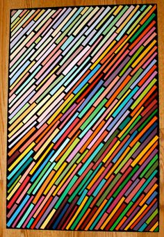 This looks like stained glass which made me think of the way images are made up of small parts and held together with a line. We could explore a way to create re-usable shapes that make up different charaters, landscapes...