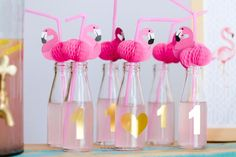 Flamingo Drinking Party Straws - Set of - Flamingo Party Supplies, Summer Party, Flamingo Straws, Birthday Supplies, Cocktail Straws New Birthday Cake, Birthday Party For Teens, Birthday Box, Flamingo Party Supplies, Birthday Supplies, Flamingo Birthday, First Birthdays, Drink Bottles, Party Ideas