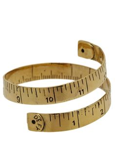 Made to Measure Bracelet. Need an accessory that will take your outfit that extra inch? #gold #modcloth