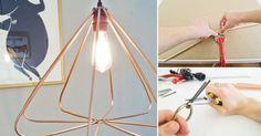 Haz tu propia lámpara geométrica con este simple proyecto