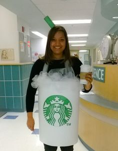 My homemade starbucks costume :) My students tell me i drink too much starbucks so picking a Halloween costume was easy!