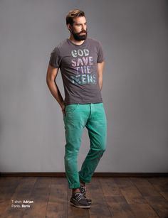 T-Shirt: Adrian Pants: Boris Discover Men's collection at www.staff-jeans.com/look-book-men/