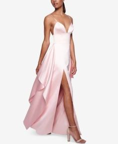Fame and Partners Ruffled A-Line Dress - Tan/Beige 8
