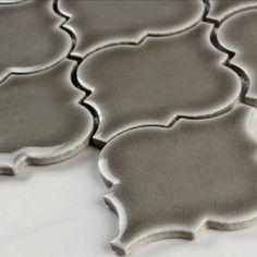 MS International Dove Gray Arabesque 10.5 in. x 15.5 in. x 8 mm Glazed Ceramic Mesh-Mounted Mosaic Wall Tile-PT-DG-ARABESQ - The Home Depot