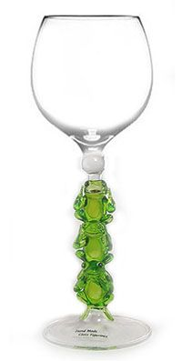 frog wine glass