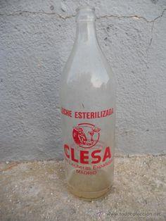 botella leche clesa cristal - Buscar con Google