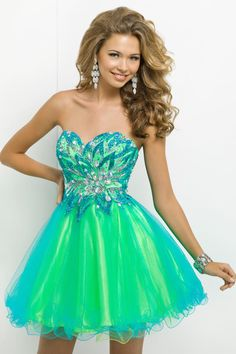 2014 Style A-line Sweetheart Rhinestone Homecoming Dresses/Cocktail Dresses #GF770