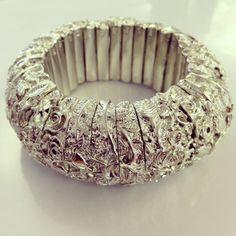 Silver Baroque cuff by designer De Maria