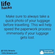 1000 life hacks is here to help you with the simple problems in life. Posting Life hacks daily to help you get through life slightly easier than the rest! Simple Life Hacks, Useful Life Hacks, Packing Tips, Travel Packing, Travel Hacks, Travel Ideas, Travel Luggage, Travel Info, Suitcase Packing