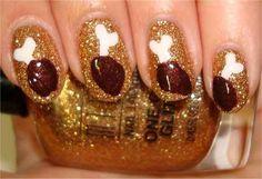 Turkey Drumsticks - plus 22 more thanksgiving nail designs :P